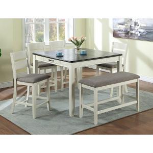 - Dakota Counter Ht Table Chalk Grey
