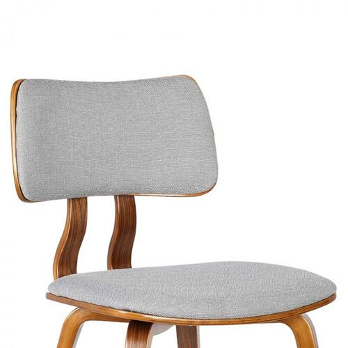 Armen Living - Armen Living Jaguar Mid-Century Dining Chair in Walnut Wood and Gray Fabric