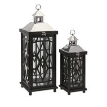 Arlington Wood Lanterns - Set of 2
