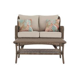 See Details - Outdoor Loveseat With Coffee Table