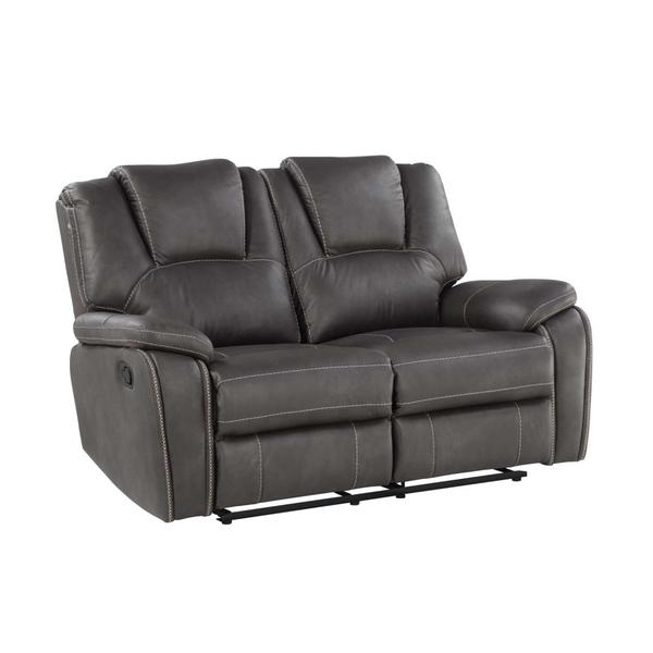 Katrine Manual Reclining Loveseat, Charcoal