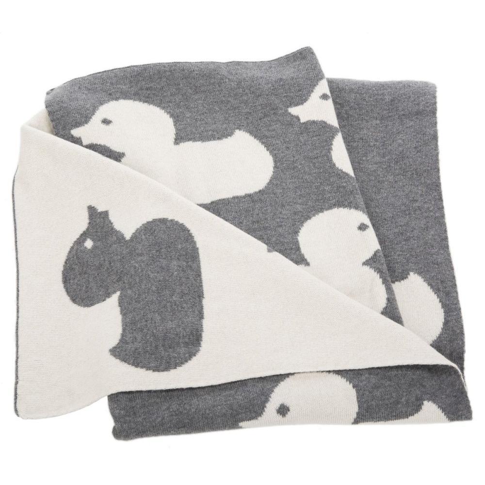 Duckie Throw - Grey / Ivory