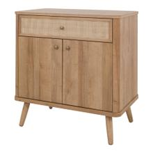 See Details - Thelma KD Rattan Small Cabinet 1 Drawer + 2 Doors, Natural Oak (ASSEMBLY REQUIRED)