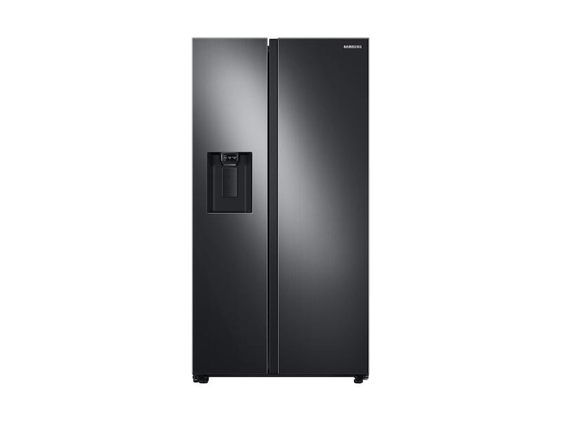 Samsung22 Cu. Ft. Counter Depth Side-By-Side Refrigerator In Black Stainless Steel