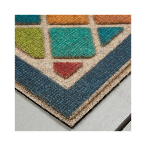 Mohawk - Stone Welcome, Ornamental Crosshatch- Rectangle