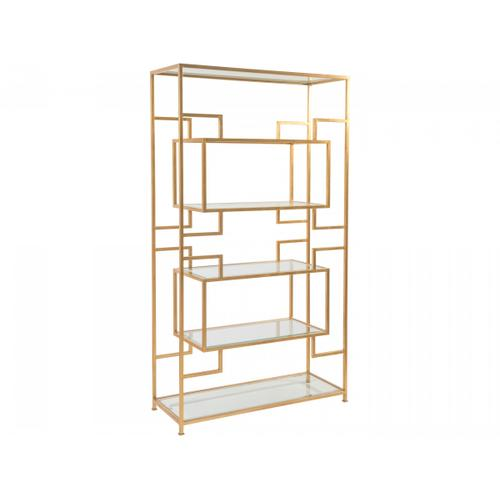 Gold Leaf Suspension Etagere