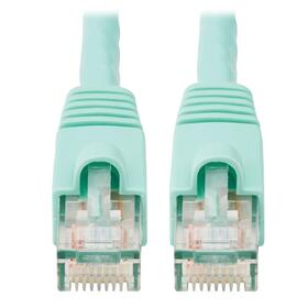 Cat6a 10G Certified Snagless UTP Ethernet Cable (RJ45 M/M), Aqua, 25 ft.