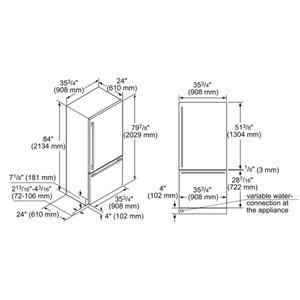 Built-In Two Door Bottom Freezer 36'' Professional T36bb925ss