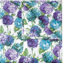 See Details - Retired Hydrangea Quilt & Shams, BLUE, KING
