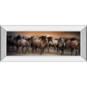 """""""Oncoming Storm"""" By Bobbie Goodrich Mirrored Frame Photo Print Wall Art"""