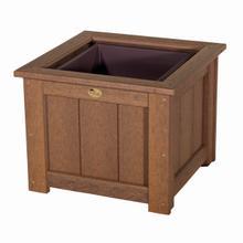 "See Details - 24"" Square Planter, Antique-mahogany"
