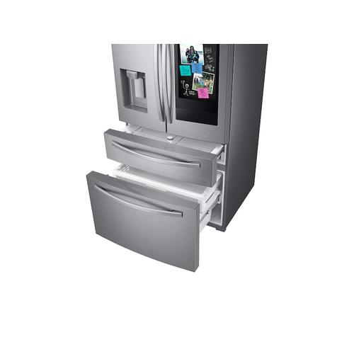 "28 cu. ft. 4-Door French Door Refrigerator with 21.5"" Touch Screen Family Hub™ in Stainless Steel"