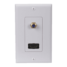 HDMI/F Connector Wall Plate