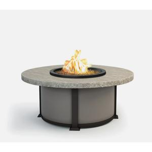 """48"""" Round Coffee Fire Pit Ht: 19"""" Valero Aluminum Base (Indicate Top, Frame, & Side Panel Color)"""