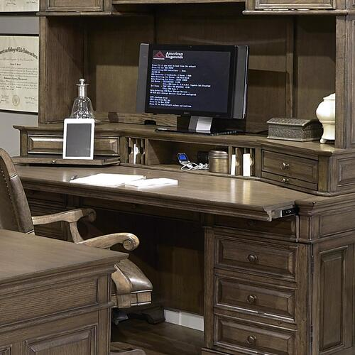 "72"" Credenza Desk w/sliding top & storage"