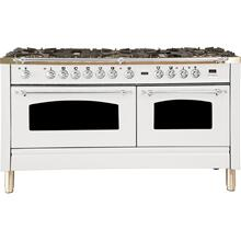 60 Inch White Dual Fuel Natural Gas Freestanding Range