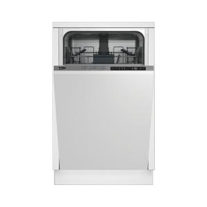 BekoSlim Size Dishwasher, 8 place settings, 48 dBa, Fully Integrated Panel Ready