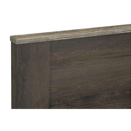 Gallery - Rivervale Dark Full/Queen Bed Mansion Headboard, Dark Brown