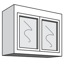 "See Details - Variable Bridge Top Unit, 2 Glass Doors, 1 Adjustable Shelf, 12""d, 30""w "" 42""w"