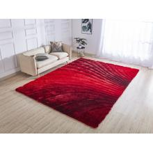 "Soft Three Dimensional Polyester Viscose Hand Tufted 3D 315 Shag Area Rug by Rug Factory Plus - 7'6"" x 10'3"" / Red"