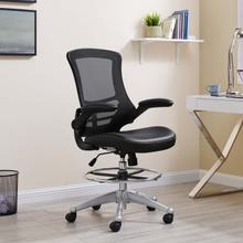See Details - Attainment Vinyl Drafting Chair in Black