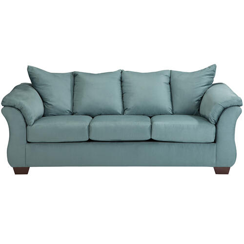Signature Design by Ashley Darcy Sofa in Sky Microfiber [FSD-1109SO-SKY-GG]