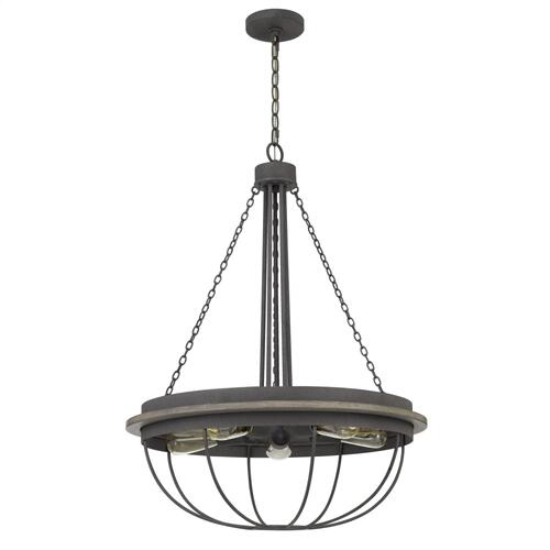 60W x 5 Nixa metal chandelier (Edison bulbs NOT included)