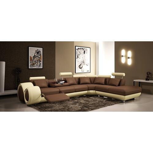 Divani Casa 4086 Modern Bonded Leather Sectional Sofa