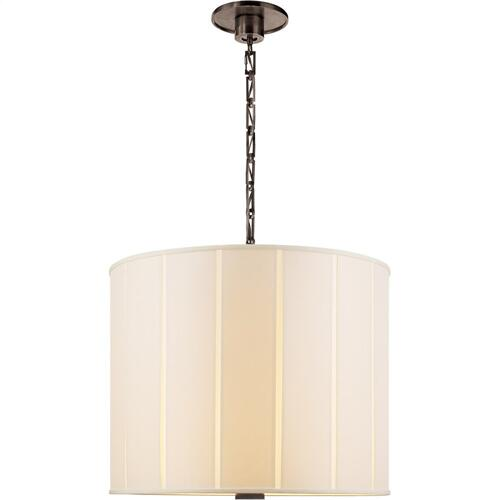 Visual Comfort BBL5032BZ-S Barbara Barry Perfect Pleat 2 Light 23 inch Bronze Hanging Shade Ceiling Light