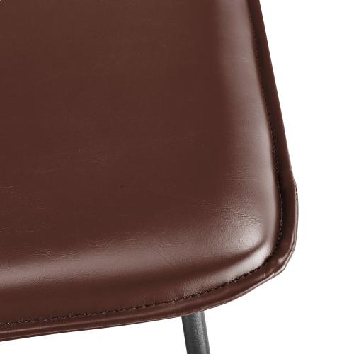 Zuma KD PU Accent Chair, Mission Brown