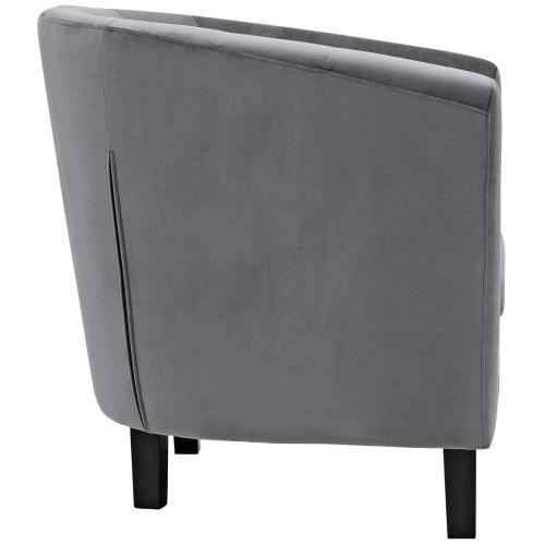 Modway - Prospect 2 Piece Performance Velvet Armchair Set in Gray