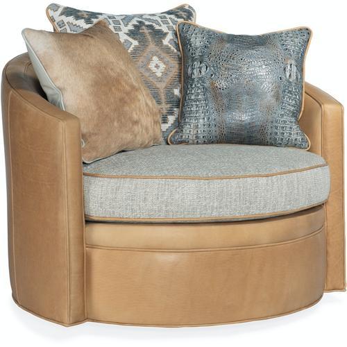 Bradington Young Artemis Swivel Tub Chair 8-Way Tie 344-25SW