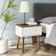 See Details - Render End Table in Walnut White