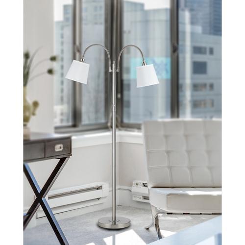 Cal Lighting & Accessories - 40W X 2 Gail Metal Lp W/Goose Neck