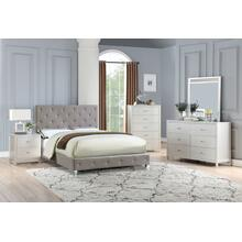 Cherise Master Bed, Eastern-king, Grey