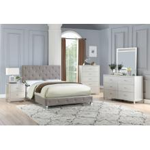 Cherise Master Bed, Queen, Grey