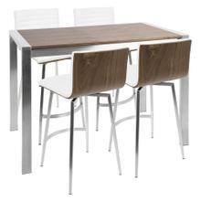 See Details - Mason Counter Set - Stainless Steel, Walnut Wood, White Pu