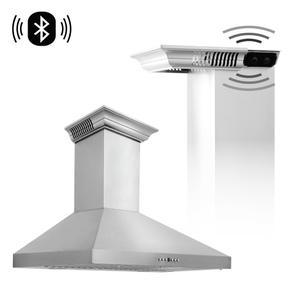 Zline KitchenZLINE Wall Mount Range Hood In Stainless Steel With Built-In CrownSound® Bluetooth Speakers (KL3CRN-BT) [Size: 30 inch]