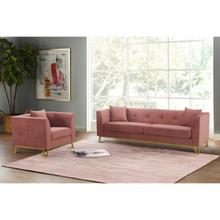 Product Image - Everest 2 Piece Blush Fabric Upholstered Sofa & Chair Set