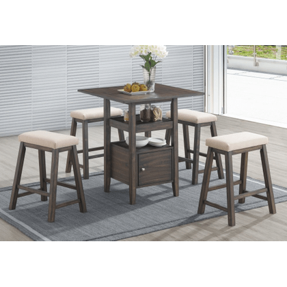 DERBY COUNTER TABLE & 4 STOOLS ALL IN ONE