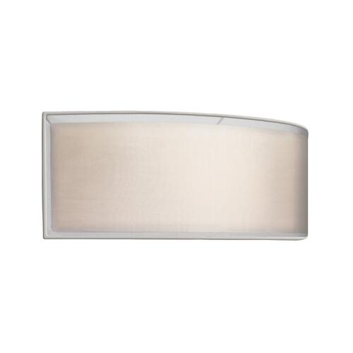 Sonneman - A Way of Light - Puri ADA Horizontal Sconce [Color/Finish=Satin Nickel w/Silver Shade, Base Type=Twin CFL 2Gx7 Base]