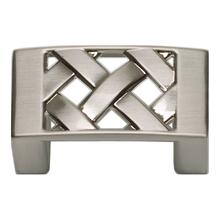 Lattice Knob 1 5/8 Inch - Brushed Nickel