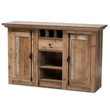 See Details - Baxton Studio Albert Modern and Contemporary Farmhouse Rustic Finished Wood 2-Door Dining Room Sideboard Buffet
