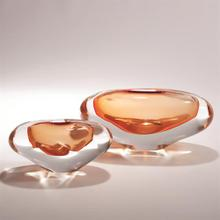 Abstract Bean Vase-Persimmon-Lg