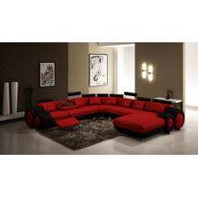 Divani Casa 4084 Contemporary Red and Black Sectional Sofa