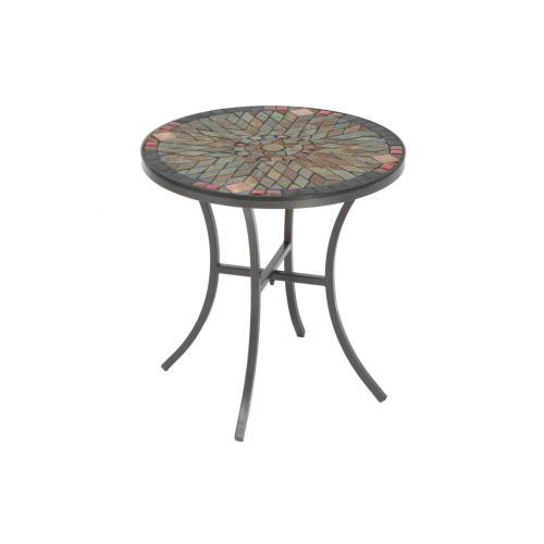 """Sagrada 20"""" Rnd Side Table w/Cer Tbl Top & Base"""
