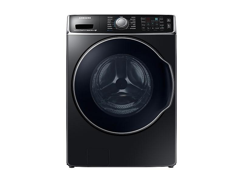 Samsung Appliances5.6 Cu. Ft. Front Load Washer With Superspeed In Black Stainless Steel