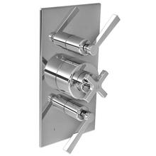 Fleetwood cross handle thermostatic with lever flow control and 2-way diverter trim only, to suit M1-4203 rough