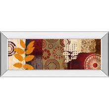 """Fall Leaf Panel Il"" By Michael Marcon Mirror Framed Print Wall Art"
