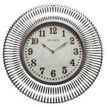 Munich in Silver Patina Wall Clock